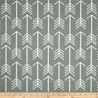Premier Prints Arrows Cool Grey Fabric - Fabric by the yard