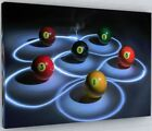 BILLIARDS POOL BALLS  WALL ART CANVAS PICTURE PRINT LARGE 238 £27.24 GBP on eBay