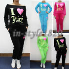 Women Athletic Wear Cute LOVE Print Hoodie Pant Set Sports Running Tracksuits