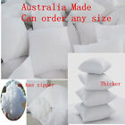 Cushion Insert Aust Made Polyester Premium Lofty Fibre 16 Sizes Available New