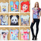 Summer Women's Short Sleeve Graphic Printed T Shirt Tee Blouse Tops Girls Hot