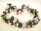 Wedding Artificial Silk Flowers Satin Rose Hydrangea Garland
