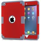 3 in 1 Hard Silicone Shock Defender Heavy Duty Tough Case Cover For iPad mini