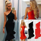 Sexy Womens Bodycon Party Dress Ladies Mermaid Cocktail Evening Club Mini Dress