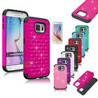 Luxury Bling Crystal Hybrid Rugged Hard Case Cover For Samsung Galaxy S6/S6 Edge