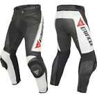 Dainese Delta Pro C2 Blk/Wh Leather Motorcycle Pants ***Now Only £225.00***