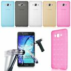 Shockproof Silicone Gel TPU Slim Case Cover + Tempered Glass For Samsung Galaxy
