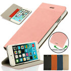 Luxury Leather Flip Wallet Case Cover Folio Pouch Stand F Apple iPhone 6/6s Plus