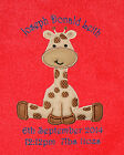 Baby Giraffe Luxury Personalised Applique Super Soft Fleece Blanke