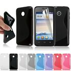 TPU Silica gel Case Cover Flexible Skin + Screen Protector fr Huawei Ascend Y330