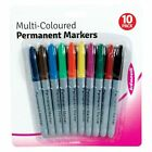 Multi Coloured Permanent Markers Pack of 10 GREAT LOW PRICE FAST & FREE DELIVERY