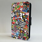 Skateboarding Stickers DC Vans FLIP PHONE CASE COVER fits ALL IPHONE MODELS