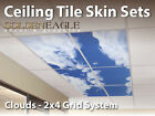 Ceiling Tile Skin Clouds Kit 2x4 Grid Glue Up Decorative ...