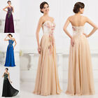 Chiffon Long Formal Evening Dress Cocktail Bridesmaid Ball Gown Prom Size 6-20