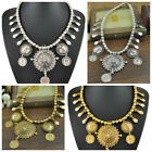 Charming Womens Bohemian Ethnic Gypsy Beads Coin Tassel Chain Necklace Jewelry