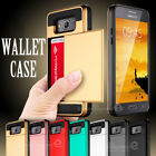 Card Pocket Slide Hybird Wallet Case Cover for Samsung Galaxy Grand Prime G530