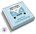 Personalised CAMPERVAN Boy's 8th 9th 10th 11th Birthday Party Favour Chocolates