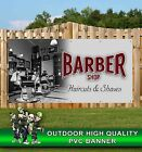 BARBER SHOP HAIRCUTS SHAVES BANNER PROMOTIONAL PVC VARIOUS SIZES