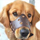 Adjustable XS-2XL Soft Leather Pet Dog Grooming Muzzle Anti-Bite for Large Dogs