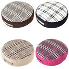 Tartan Woven Giant Floor Cushions Soft Foam Filled Large Seat Bedroom Checked