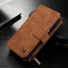 Multifunction Men's HQ Leather Wallet Card Case Cover For Samsung Galaxy Note 5