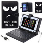 "Pen+ Universal Leather Case Cover W/ Micro USB Keyboard For 7"" 7 inch Tablet PC"