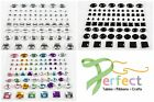 75 MIXED SHAPES Self Adhesive Diamante Gems Craft Square/Oval/Round Etc