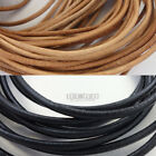 Black Genuine Round Leather Cord for DIY Jewelry Necklace Bracelet Making String