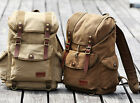 NEW Unisex Outdoor Canvas Casual Travel Shoulder Bag 15''Laptop School Backpack
