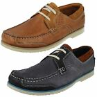 Mens Clarks Kendrick Sail Navy Or Tan Nubuck Casual Lace Up Shoes G Fitting