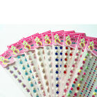 6mm Self Adhesive Rhinestone Gemstone Scrapbooking Stickers Bling Craft Fr Pnone