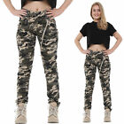 New Womens Army Military Camouflage Trousers Slim Fitted Stretch Jeans Pants