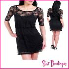 *SALE!* SEXY BLACK LACE BODYCON TUNIC DAY EVENING DRESS