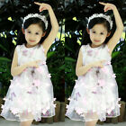 Princess Baby Girls Party Dress Lace Tulle Flower Gown Dress Sundress Clothi #el