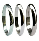 2mm 18ct White Gold Wedding Rings D Profile Shaped UK HM Med Heavy X Heavy Bands