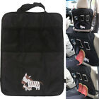 Cool Animal Car Seat Kick Mat Back Cover Protector+Mesh Pocket Organizer Storage