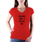 Please Don`t Touch Me T-Shirt Ladyfit Sexy Shirt Mädchen Damenshirt NEU NEW
