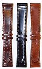 Horween Shell Cordovan Handmade Leather Watch Strap 20mm Brown Black Cognac LOOK
