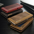 Classic Flip Magnetic Jean Book Wallet ID Card Hybrid Holder Stand Case Cover