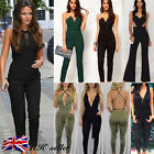 UK Sexy Womens Ladies Clubwear Playsuit Bodycon Summer Party Jumpsuit Trousers