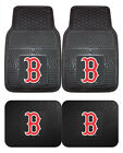 Boston Red Sox Car Mats 4 Pc Front and Rear Heavy Duty Vinyl