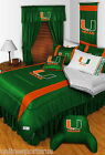 Miami Hurricanes Comforter Bedskirt Sham Twin Full Queen King Size