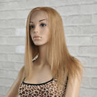 16 inches Woman Silky Straight Full Long Lace Hair Wigs 100% Indian Human Hair