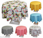 """Colourful Round Quality Poly-Cotton Tablecloths Different Patterns 160CM (63"""")"""