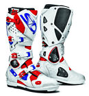 SIDI CROSSFIRE 2 SRS RED BLUE WHITE MOTORCYCLE OFF ROAD MOTO-X MX ENDURO BOOTS