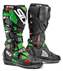 SIDI CROSSFIRE SRS OFF ROAD MX MOTOCROSS RACE SPEC MOTORCYCLE BOOTS GREEN BLACK