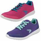 Girls Clarks Sprint Zone Jnr Pink Combi Lace Up Trainers F & G Fittings