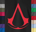 ASSASSIN'S CREED Soft 100% Ringspun Cotton T-Shirt Ezio Clan Logo Video Game Tee