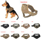 Tactical Dog K9 Service Patrol Dog Vest Harness With Handle 2 Sizes 9 Colors