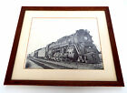 "1956 PENNSYLVANIA RAILROAD 6495 TRAIN PHOTO 18"" X 15"" FRAMED PENNSY LIMA OHIO"